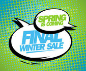 Spring is coming final winter sale design. — Stock Vector