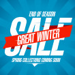 Great winter sale design. — Stock Vector