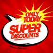 Super discounts design pop-art style. — Stock Vector #40030147