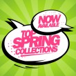 Stock Vector: Top spring collections now available design.