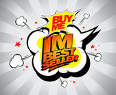 Im bestseller, buy me. — Vector de stock