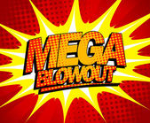 Mega blowout design in pop-art style. — Stock Vector