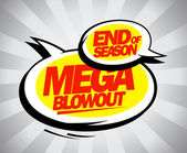 End of season mega blowout balloons pop-art style. — Stock Vector