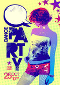 Bright party design, pop-art style. — Stock Vector