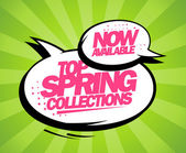 Top spring collections now available design. — Stock Vector