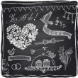 Chalk wedding hand drawn graphic set on a chalkboard. — Stock Vector