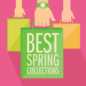 Best spring collections flat design. — Stock Vector