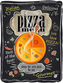 Vintage chalk pizza menu. — Wektor stockowy