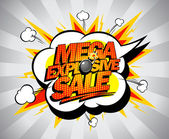 Mega explosive sale banner. — Stock Vector