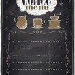 Vintage chalk coffee menu. — Stock Vector