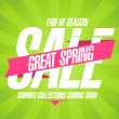 Great spring sale design. — Stock Vector #42732673