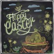 Easter graphic on a chalkboard. — Stock Vector