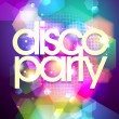 Disco party design on a bokeh background. — Stock Vector
