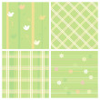 Seamless easter paper set. — Stock Vector