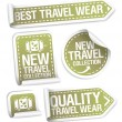 Best travel wear collection stickers. — Stock Vector