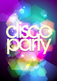 Disco party design on a bokeh background. — Vector de stock