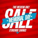 Memorial day sale design. — Stock vektor