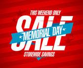 Memorial day sale design. — Stock Vector