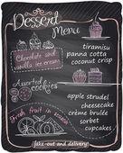 Chalkboard dessert menu. — Stock Vector