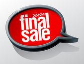 Final sale bubble.  — Stock Vector