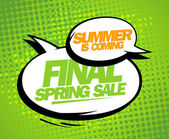 Summer is coming, final spring sale design. — Stock Vector