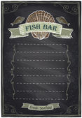 Chalkboard seafood menu. — Stock Vector