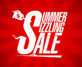 Summer sizzling sale design — Stock Vector