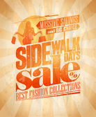 Sidewalk sale days design. — Stock Vector