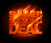 Fiery summer sizzling deal design. — Stock Vector