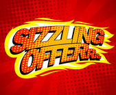 Sizzling offer sale design. — Stock Vector