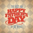 Fathers day card. — Stock vektor #47814603