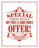 Best deal sale design. — Stock Vector