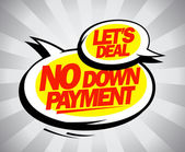 No down payment. — Stock Vector