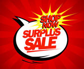 Surplus sale pop-art design. — Vector de stock