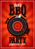 Bbq party design. — Stock Vector
