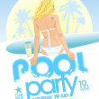 Pool party design. — Stock Vector #50716473