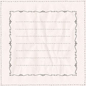 Handdrawn frame with curls on a paper. — Stock Vector