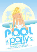 Pool party design. — Stock Vector