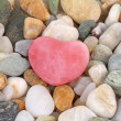 Rose quartz heart — Stock Photo