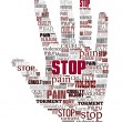 Word cloud stop violence — Stock Photo #13890256