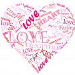 Word cloud heart — Stock Photo