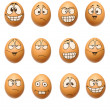 Stock Photo: Funny eggs collection