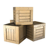 Wooden box — Stock Photo