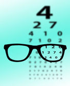 Eye test chart — Foto Stock