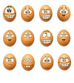 Funny eggs collection — Foto de Stock
