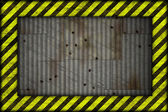 Hazard frame metal plate background — Stock Photo