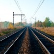 Railway with lines - Foto de Stock