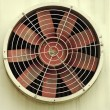 The old industrial fan - Stock Photo