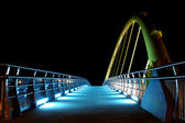 Bridge with Lights at night time — Stock Photo