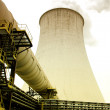 Cooling tower of nuclear power plant - Stock Photo
